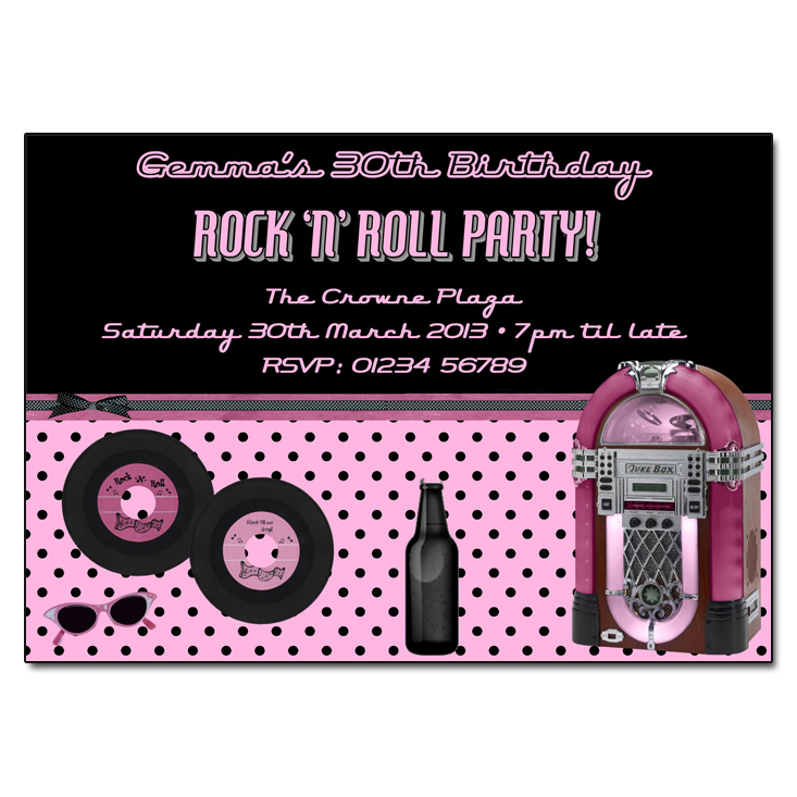 50s Rock n Roll Sock Hop Invitation | Rock n Roll Party Invitation