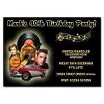 50's Rock party invitation