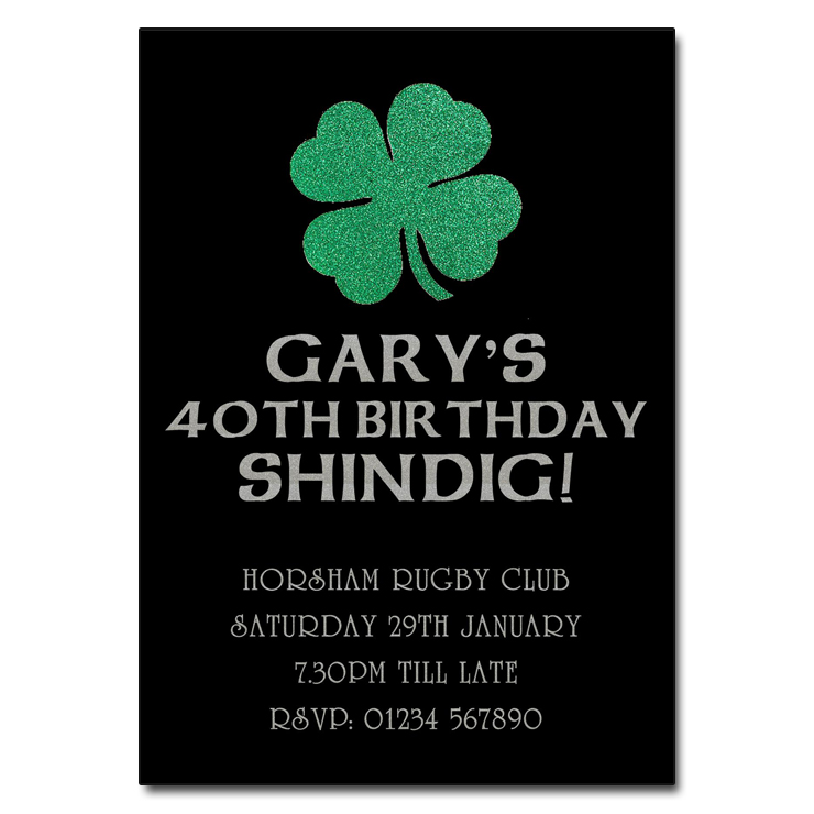 Irish Shamrock Party Invitation