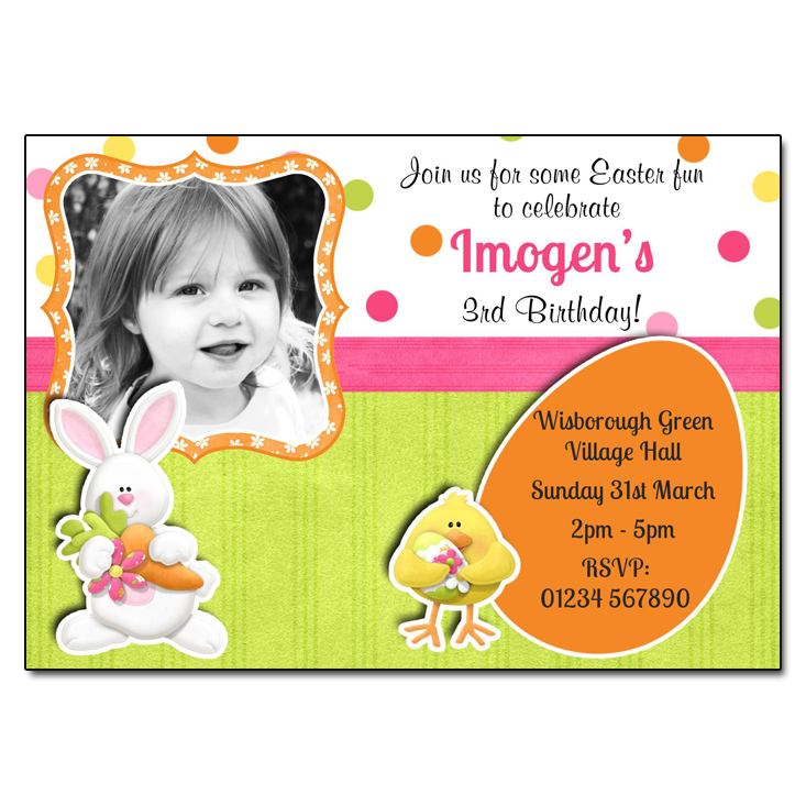 Easter Bunny & Chick - Create your own invitation