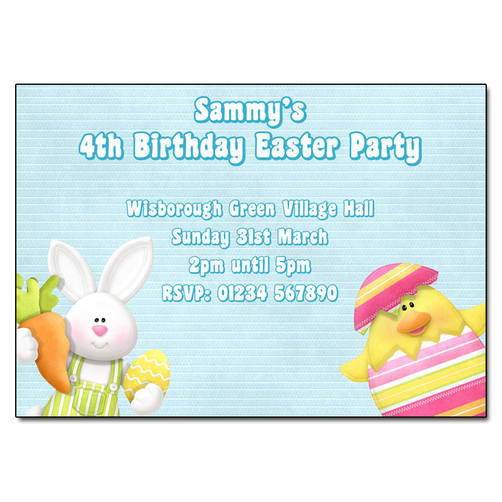 Easter Friends Party Invitation
