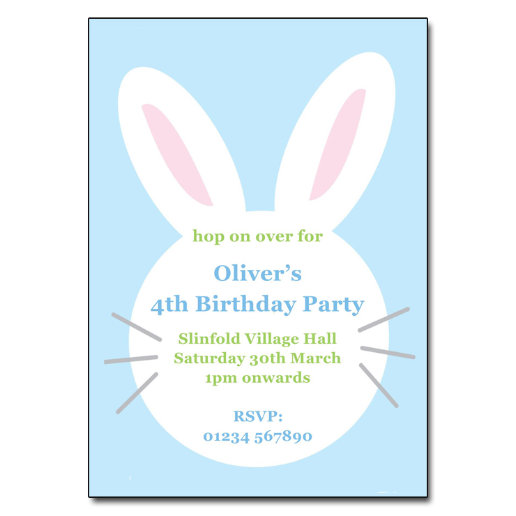 Bunny Rabbit Easter Invite