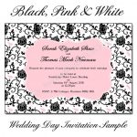 Black,-Pink-&-White-Wedding-Day-Invitations