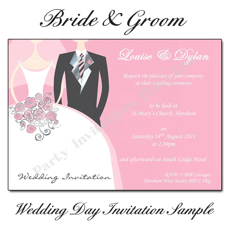 Bride And Groom Wedding Invitations Buy Now