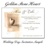 Golden-Stone-Heart-Wedding-Day-Invitations