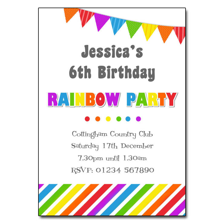rainbow invite template - Etame.mibawa.co