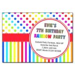 Rainbow dots and stripes invitation