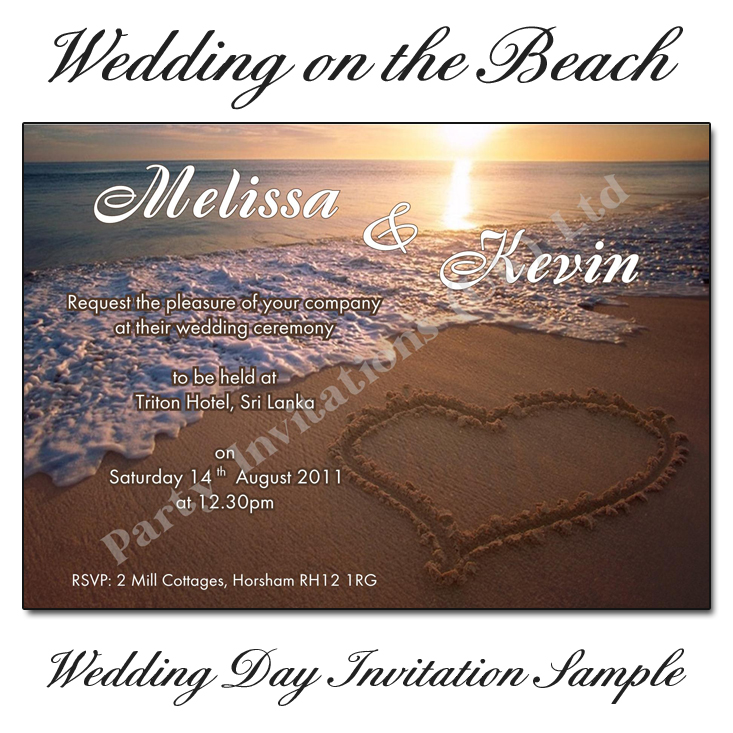 Beautiful Beach Sunset Wedding Invitations Buy Online Now