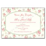 Shabby Chic Vintage Wedding Day Invitation