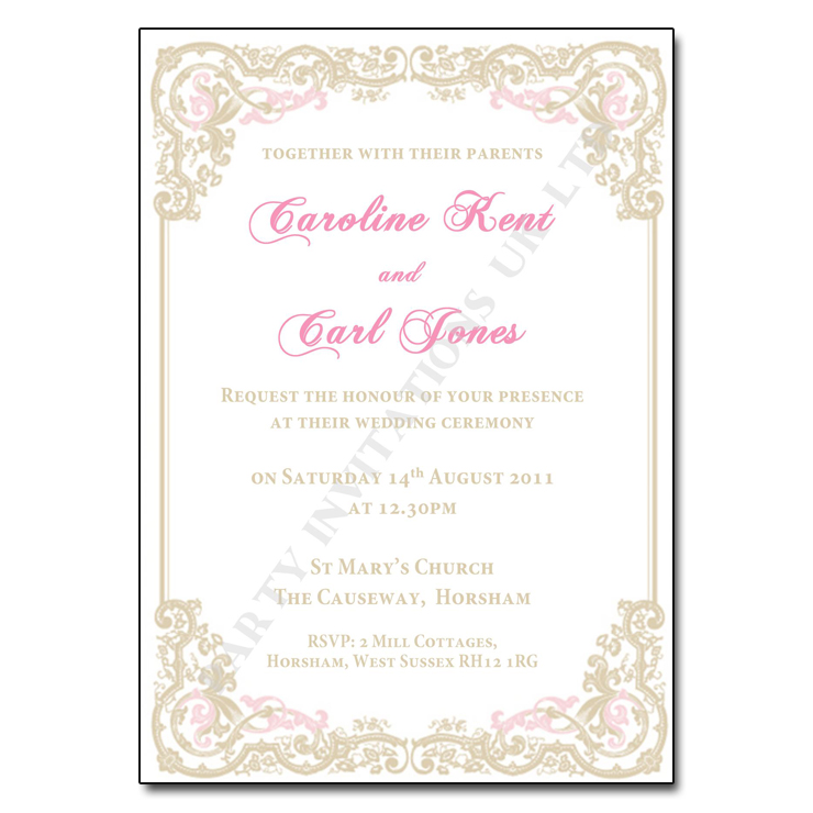 Personalised classy vintage wedding invitations 6 per 10 invites classy vintage wedding day invitations stopboris Gallery