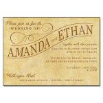 Vintage Paper Wedding Day Invitation