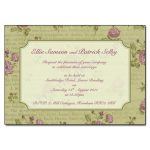 Vintage Spring Wedding Day Invitation