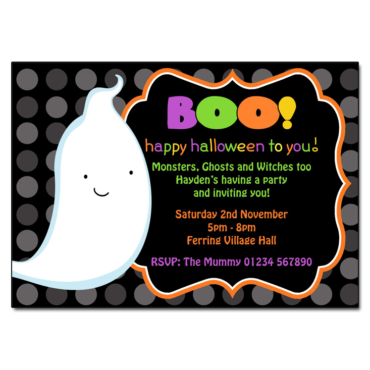Boo Halloween Invitations Partyinvitationsuk Co Uk