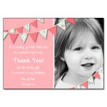 Chintz bunting photo thank you notes
