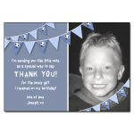 Football bunting photo thank you note new
