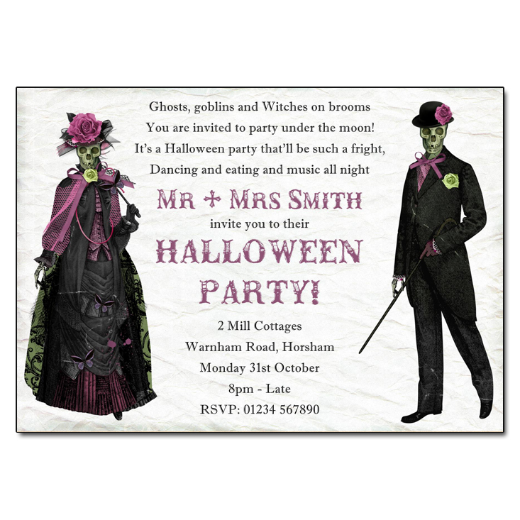 Mr & Mrs Halloween Party Invitation