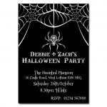 Spiders Web Halloween Party Invitations