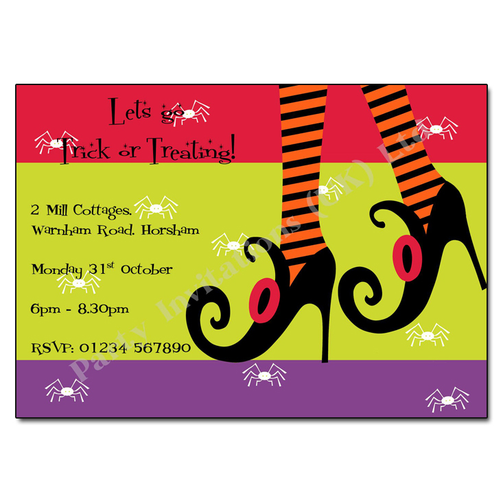 Wicked Heels Halloween Party Invitations