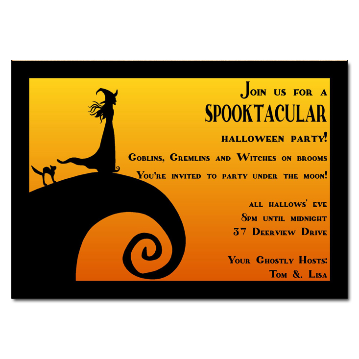 spectacular spooktacular halloween party invitations
