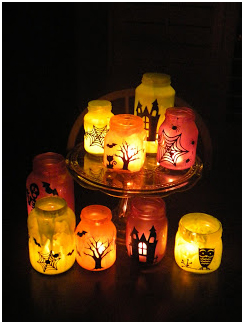 Halloween Luminaries in darkness