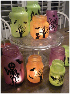 Halloween Luminaries in light