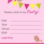 Bunting Invitation small