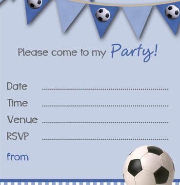 free printable football party invitation templates