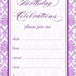 Free printable damask party invitation pdf download