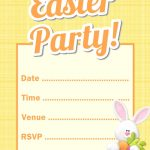 Free downloadable easter bunny party invitation