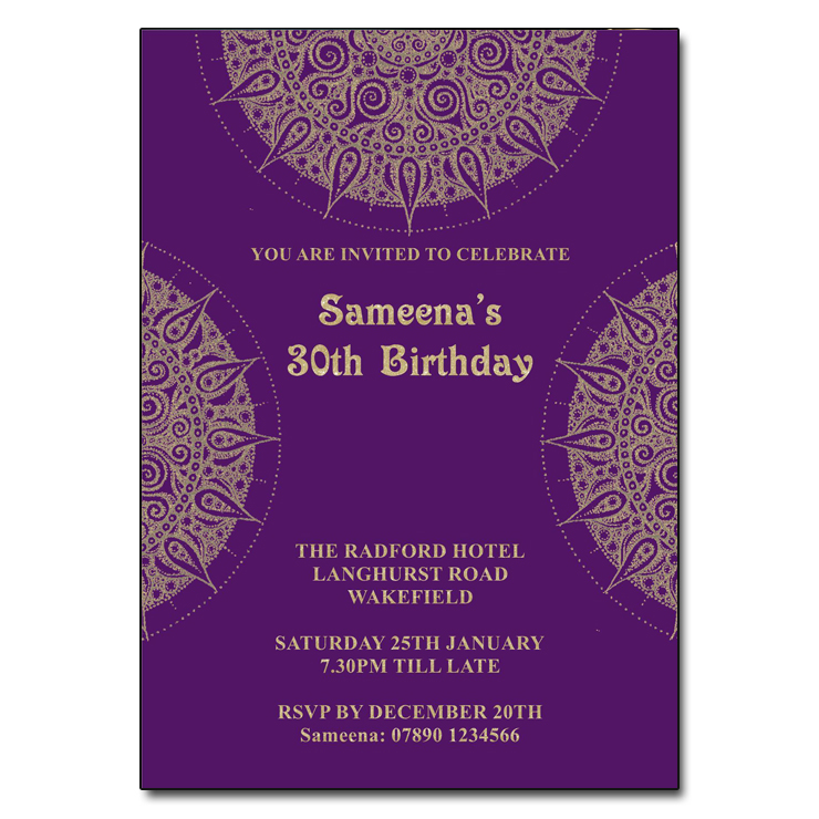 Indian Mandala Party Invitations