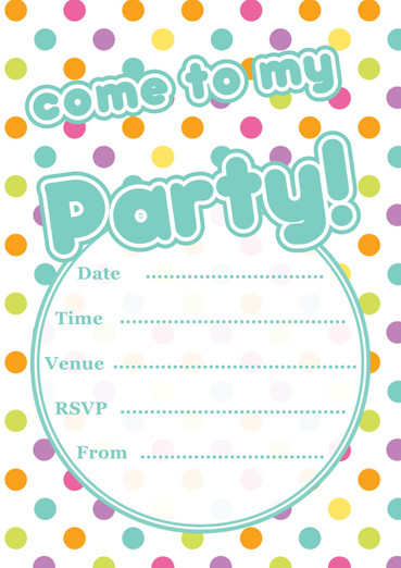 Free printable polka dot party invitations template stopboris