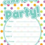 Polka Dot party invitation free printable download