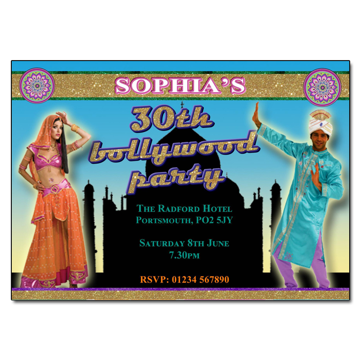 Bollywood Party Invitations