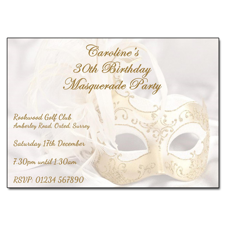 venetian masquerade party invitations