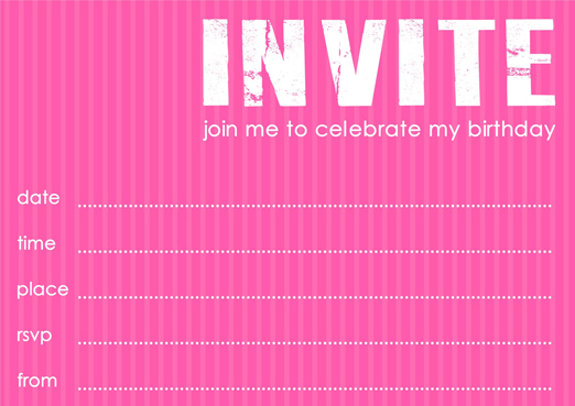 Free Birthday Party Invitation Template In Blue Or Pink