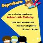 superheroes childrens party invitations