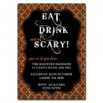 Eat Drink and be Scary Halloween Invitations