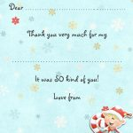 Little Elf xmas thank you note small