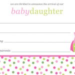 baby girl birth announcement template free download