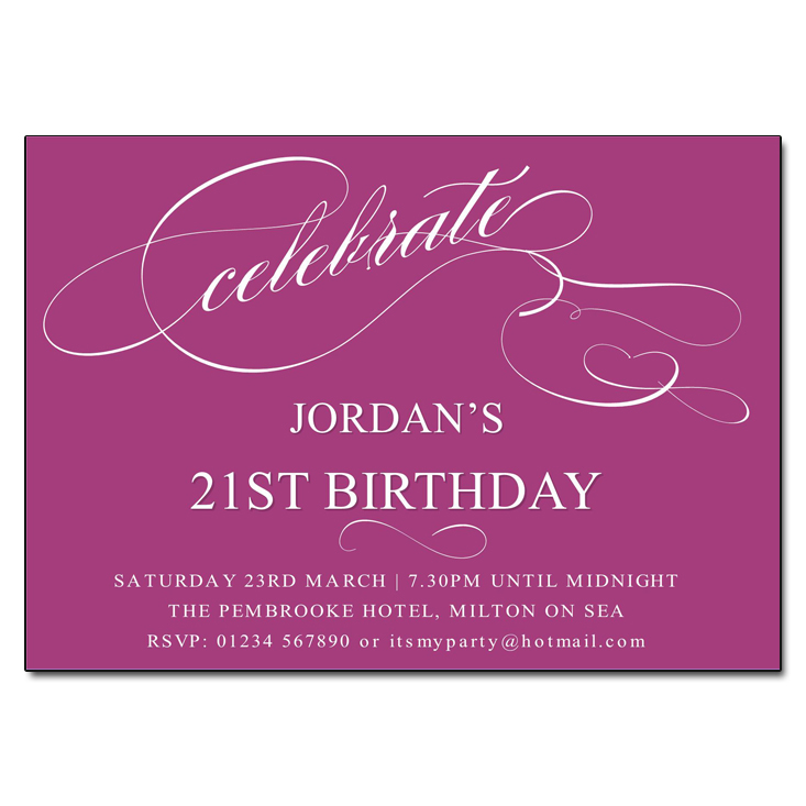 Mulberry Celebrate Birthday Party Invitations