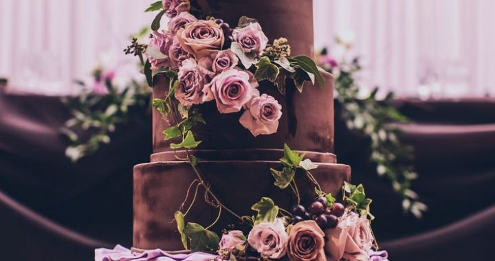 chocolate wedding cake 2