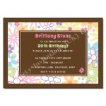 Bubbly Blossoms Party Invitations