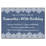 Denim & Lace Birthday Party Invitations